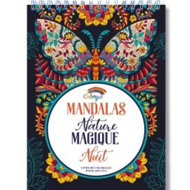 Kleurboek voor volwassenen 30 afb. Mandalas Nature Magique- Black