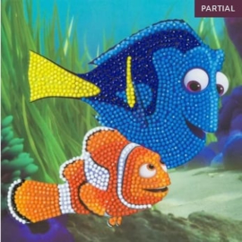 Craft Buddy- Card Kit-Diamond Painting Disney Dory & Marlin Multi Color