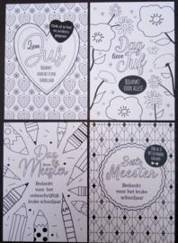 Baaij Light Cards-Kleurkaarten Bedankt voor het schooljaar-White