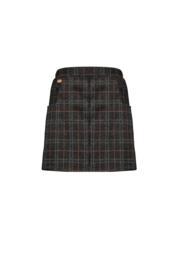 Nobell-Nima check skirt short-Jet Black