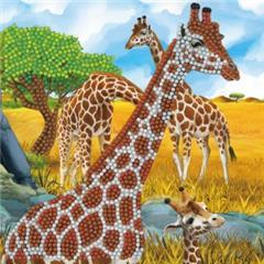 Chrystel Card Kit-Diamand Painting Gentle Giraffe-Craft Buddy- Multi Color