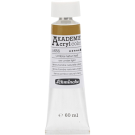 Acryl color-raw umber light (656), opaque, extr. fade resistant, 60ml-Schmincke AKADEMIE