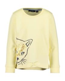 Blue Seven-Kids Girls knitted sweatshirt-Lt Yellow orig