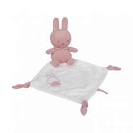 Tiamo-C.W.-Girls Nijntje Baby Rib Knuffeldoekje -Pink