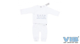 2-Delige Setje Wit 'Remove Baby Before Washing'-VIB-White