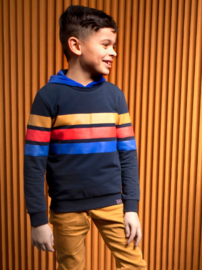 B.Nosy-Boys sweater with 3 colored stripes-Ink Blue