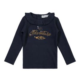 Dirkje-Girls Baby T-shirt ls-Navy