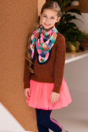 Girls Kids aop scarf -B.Nosy-Leaf cover