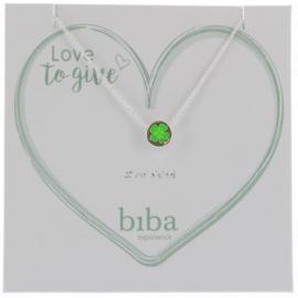 Ketting met bedel - Biba- Green silver