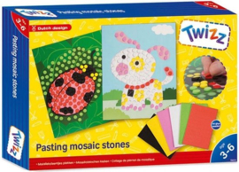 Twizz-C.W. mozaïeksteentjes plakken-8 dlg-multi color