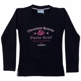 Porto Azul-Girls Shirt l.m. fantasie- Blue