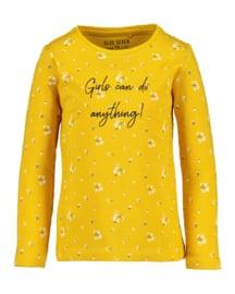 Kids Girls knitted T-Shirt-Blue Seven- Yellow