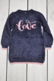Kids girls knitted dress -Blue Seven-Night blue