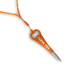 I LOVE YOU Pen Opener-Miko-Orange