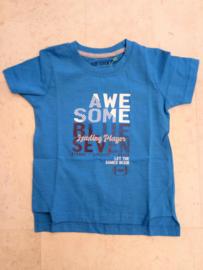 Blue Seven-Kids small Boys knitted T-shirt-Cyan blue