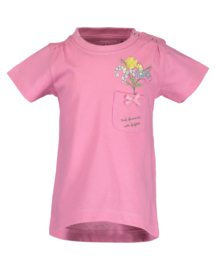 Baby Girls T-Shirt Flowers- Blue Seven- pink