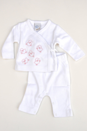 Baby Girls pre 2-pce Babysuit Sheep- LPC-White-Rose