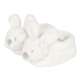 VIB-Unisex Pluche konijnenslofjes met konijnenhoofd-White