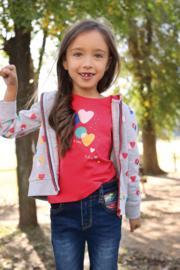 Blue Seven-Kids Girls knitted sweat jacket- grey melee aop orig