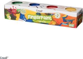 Creall  Vingerverf 4x125 gram-C-Diverse kleuren