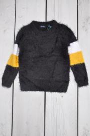 Kids Girls knitted pullover -Blue Seven- Black