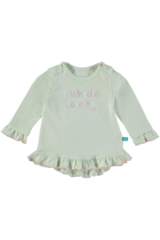 Baby Girls Sweater L/S Topical Love Newborn- Lief- Almost Aqua