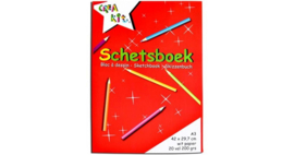 Schetsboek Crea Kit wit papier A3 200 gr-C.W.-Red