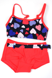 Girls Toddler bikini tanktop Dots- Lentiginni- Rood