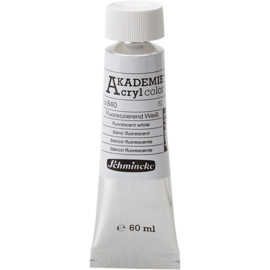 Acryl color-fluorescent white (840), semi-transparent, 60ml-Schmincke AKADEMIE