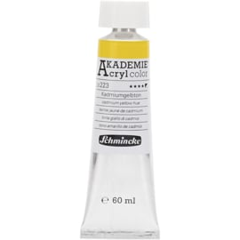 Acryl color-cadmium yellow hue (223)-semi-opaque, good fade resistant, 60ml-Schmincke AKADEMIE