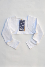 Girls Basic Bolero- LoFff- White