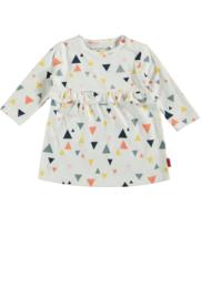 Bampidano-Newborn Baby Girls dress Dina AO with ruffle WHALES-Allover