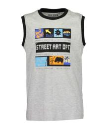 Blue Seven-Boys knitted T-Shirt-Fog Orig-Grey