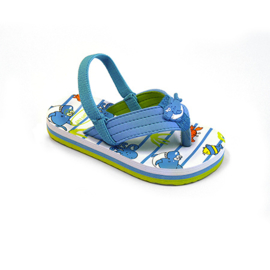 Boy's Flip-flops Fermo with dolphin on insole- Libaco- Blue