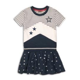 DJ Dutch Jeans-Girls Dress-Navy + white + stripe