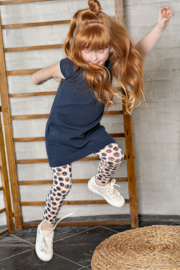Kids Girls dress s/s-Bampidano-Navy