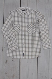 Boys woven shirt- Blue Seven- White