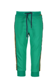 Baby Boys track pants Bruce with striped tapes SPACE-Bampidano-Green