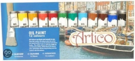 Artico olieverf 12 kleuren