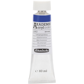 Acryl color-ultramarine blue (442), semi-transparent, good fade resistant, 60ml-Schmincke AKADEMIE