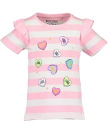 Blue Seven-Kids Girls knitted T-Shirt-Azalea orig- Rose