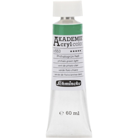 Acryl color-phthalo green light (553), transparent, extr. fade resistant, 60ml-Schmincke AKADEMIE