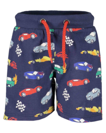 Blue Seven-Mini Boys knitted short pants-Dark Blue AOP orig