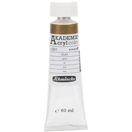 Acryl color-gold (801), semi-opaque, good fade resistant, 60ml-Schmincke AKADEMIE