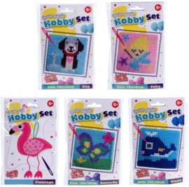 Hobbyset haken-CW-multi color 4 assorti