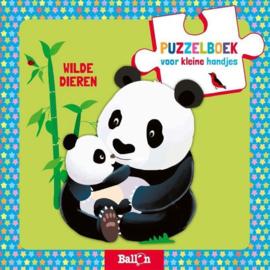 De Ballon-CW.-Puzzelboek Wilde dieren-Light green