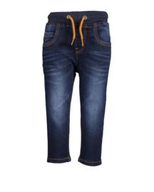 Blue Seven-Mini boys woven pull-up jeans-DK Blue orig