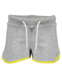 Blue Seven-Kids Girls knitted sweat shorts-FUN PANDA-FOG ORIG