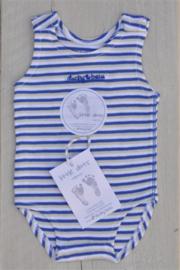 Baby Boys pre Romper-Ducky Beau- Blue stripe