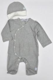Dirkje-Baby Boys pre 1-pce Babysuit + hat- Navy Stripe